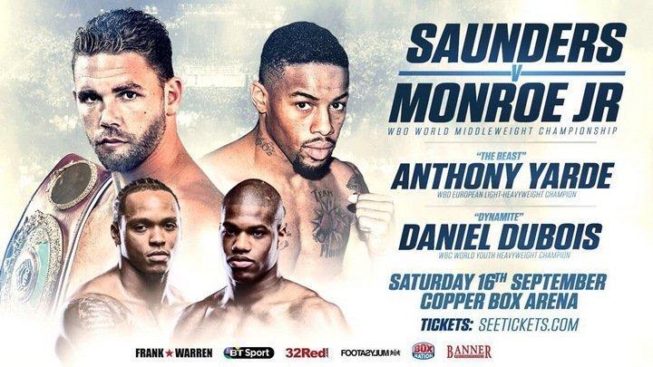 Saunders vs Monroe Jr - Sept 16 - London, UK @ London | London | England | United Kingdom