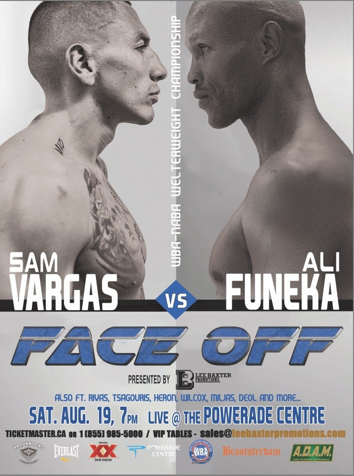 Vargas vs Funeka – Aug 19 – Brampton, Canada: