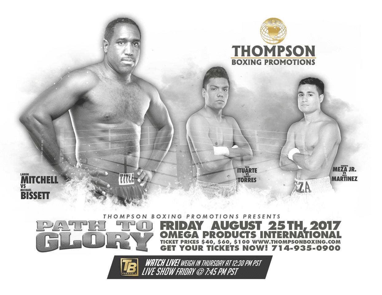 Mitchell vs.  Bissett - August 25 - Corona, Calif. @ Corona, Calif. | Corona | California | United States