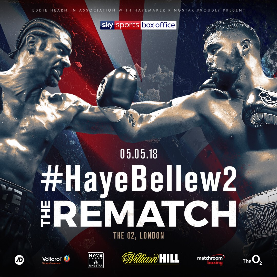 Haye vs Bellew – May 5 – London