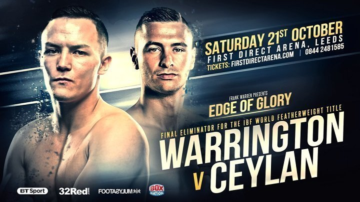 Warrington vs Ceylan – October 21 – Leeds, UK