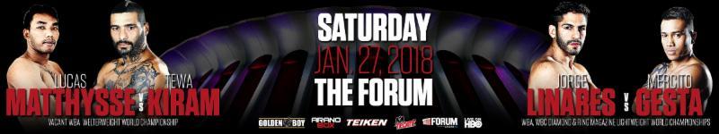 Matthysse vs  Kiram - January 27 - Inglewood, Calif. @ Inglewood, Calif. | Inglewood | California | United States
