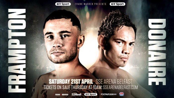Frampton vs Donaire – April 21 – Belfast, Ireland