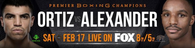 Ortiz vs.  Alexander - February 17 - Texas @  El Paso, Texas | El Paso | Texas | United States