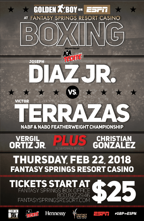 Diaz Jr. vs.  Terrazas, - Feb. 22 - Indio, Calif. @ Indio, Calif. | Indio | California | United States
