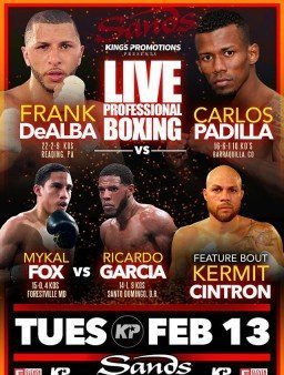 Fox vs.  Garcia  – February 13 – Bethlehem, Pa