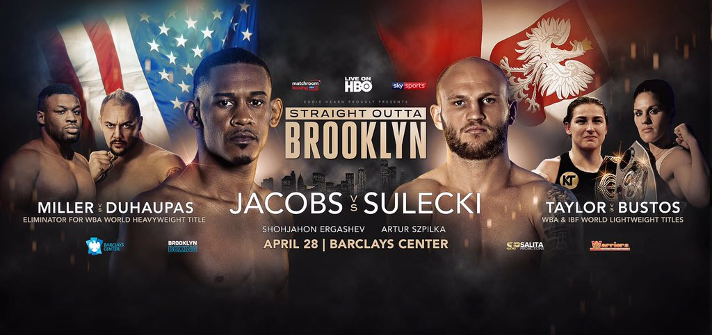Jacobs  vs Sulecki – April 28 – Brooklyn, NY