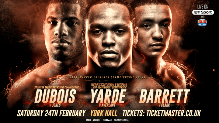 Yarde vs. Averlant  - Feb. 24 - London @ London | London | England | United Kingdom