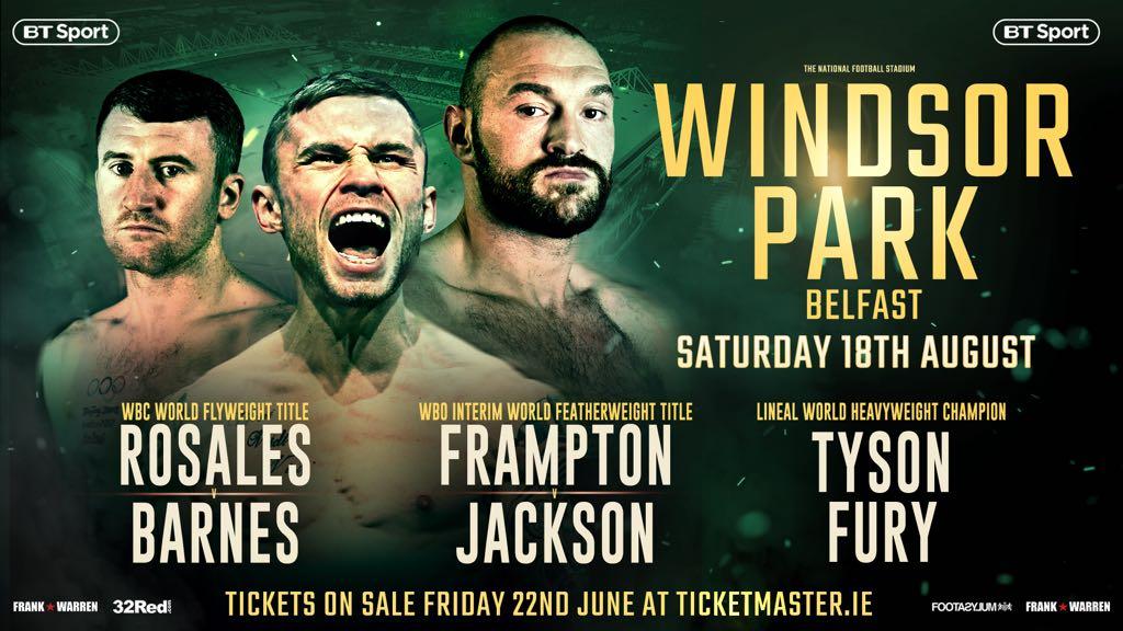 Frampton vs Jackson – August 18 – Belfast