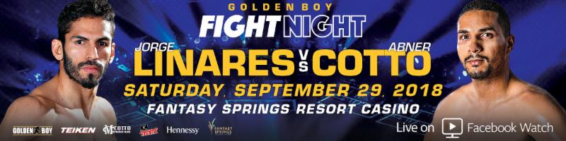 Linares vs. Cotto  - September 29 - Indio, Calif. @ Indio, Calif. | Indio | California | United States