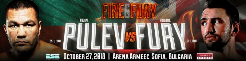 Fury vs Pulev – October 27 – Sofia, Bulgaria