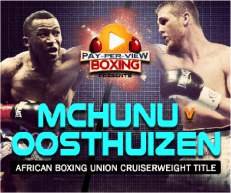 Mchunu vs.  Oosthuizen - September 1 -  South Africa @ South Africa | South Africa