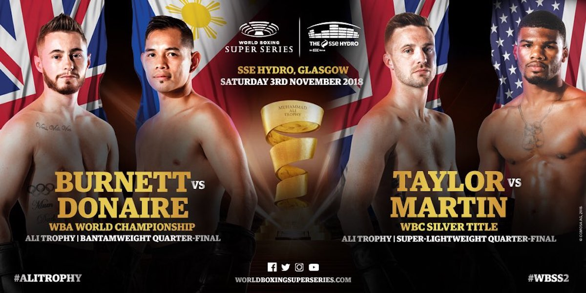 Taylor vs Martin – November 3 –  Glasgow, Scotland