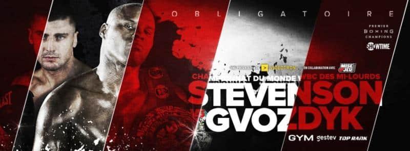 Stevenson vs Gvozdyk – December 1 – Quebec