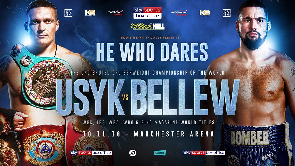 Usyk vs Bellew - November 10 - Manchester @ Manchester | Manchester | England | United Kingdom