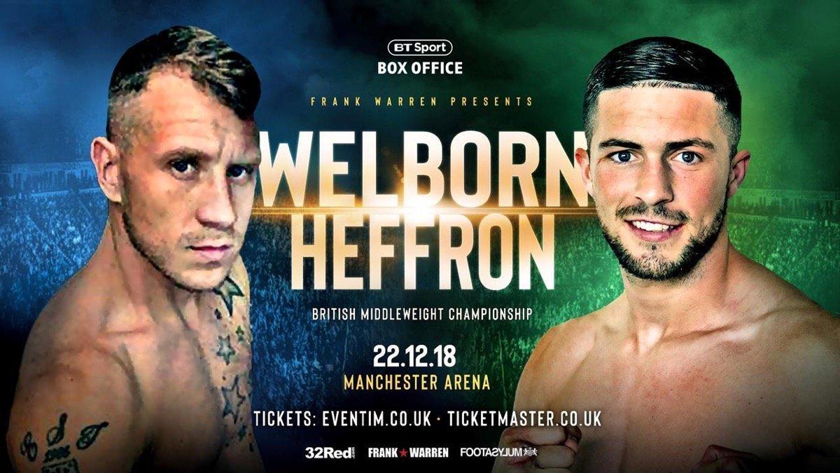 Welborn vs Heffron - Cancelled! @ Manchester | Manchester | England | United Kingdom