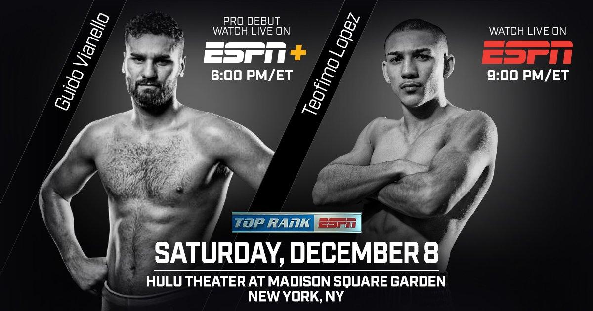 Lopez vs  Menard – December 8 – New York