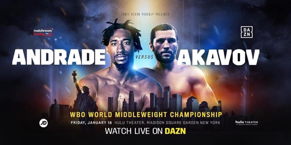 Andrade vs. Akavov -  January 18 - MSG, New York @ MSG, New York | New York | New York | United States