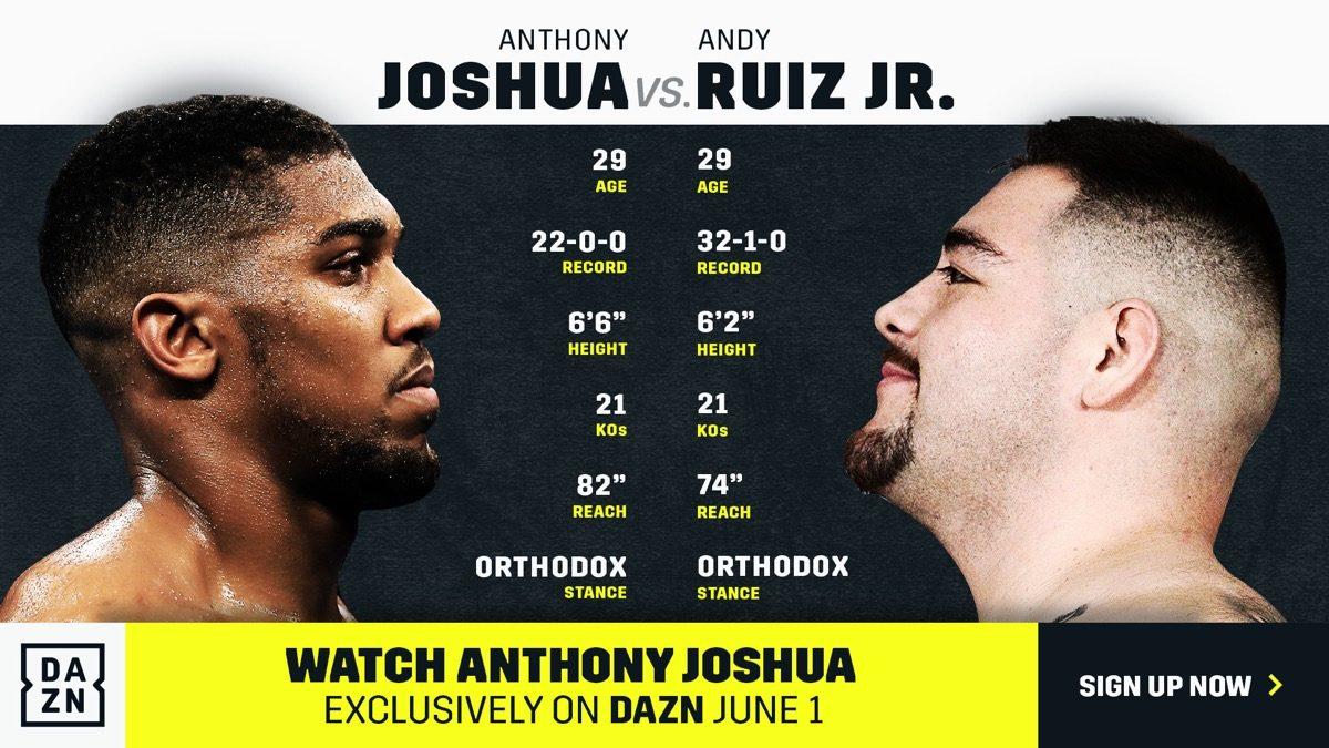 Joshua vs  Ruiz - June 1 - DAZN @ Madison Square Garden in New York | New York | New York | United States