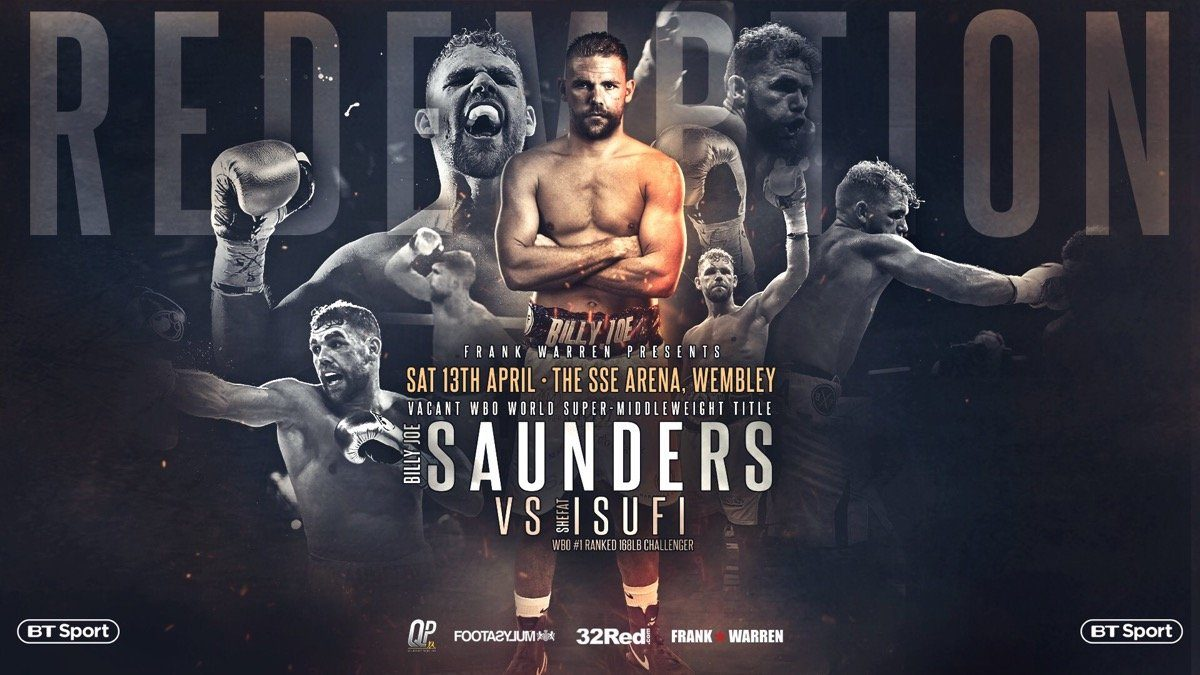 Saunders vs Isufi  - April 13 - London @ The SSE Arena, Wembley | England | United Kingdom