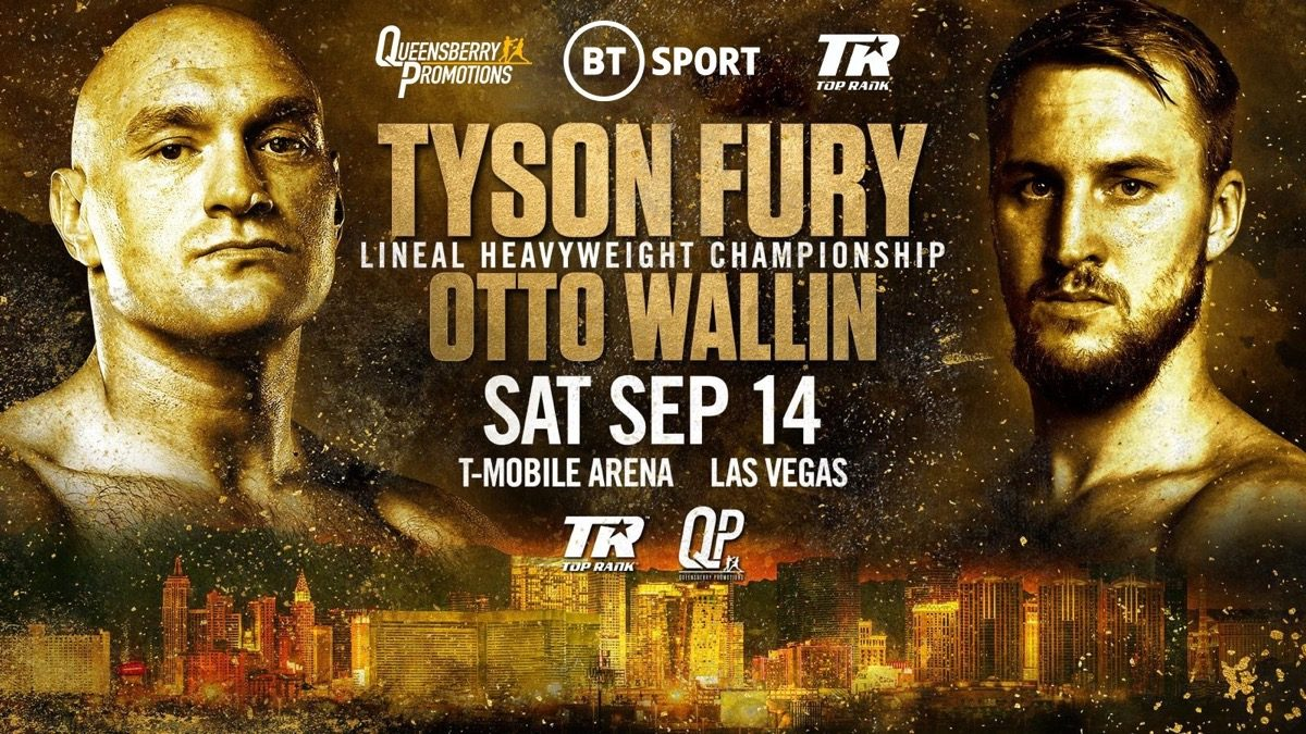 Fury vs Wallin - ESPN+, BT Sport @ T-Mobile Arena in Las Vegas | Las Vegas | Nevada | United States