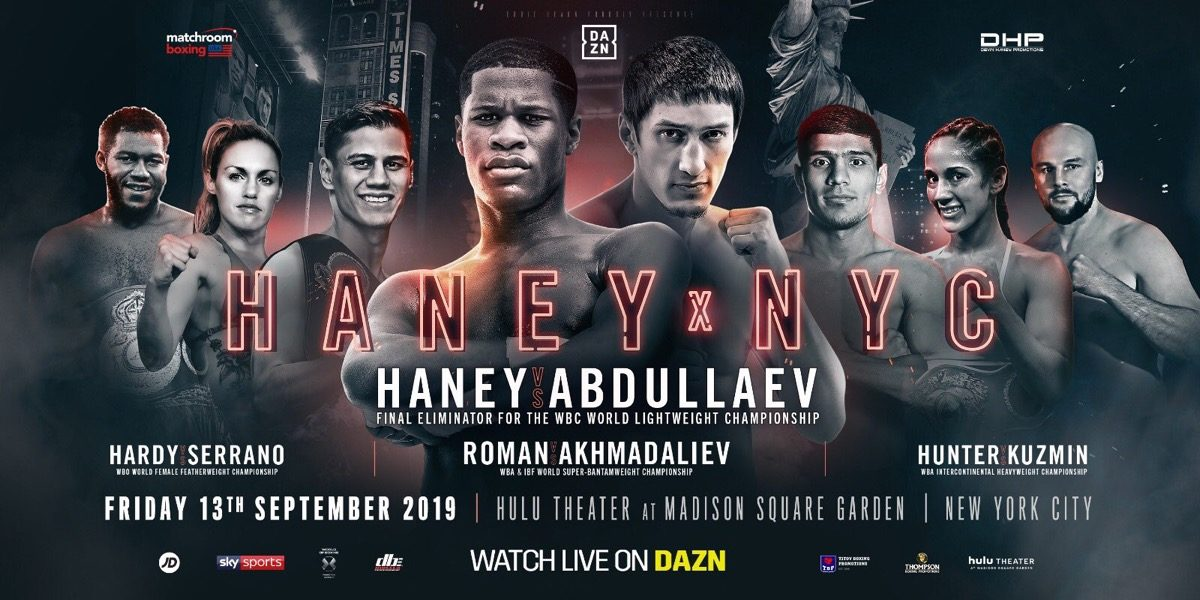 Haney vs Abdullaev  -  DAZN, SKY @ Hulu Theater in Madison Square Garden | New York | New York | United States