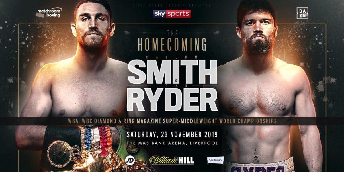 Callum Smith vs Ryder – DAZN, Sky Sports