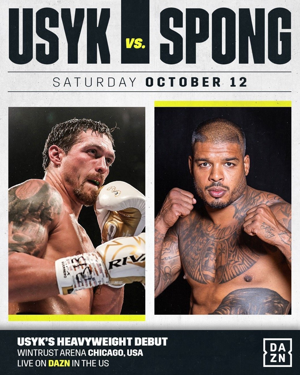 Usyk vs Spong - DAZN, SKY @ Wintrust Arena in Chicago | Chicago | Illinois | United States