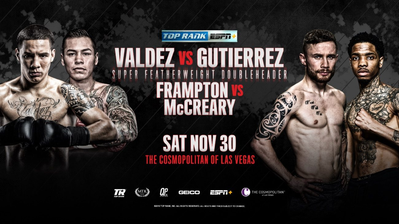 Valdez vs Gutierrez -  ESPN+ @ The Cosmopolitan of Las Vegas | Las Vegas | Nevada | United States