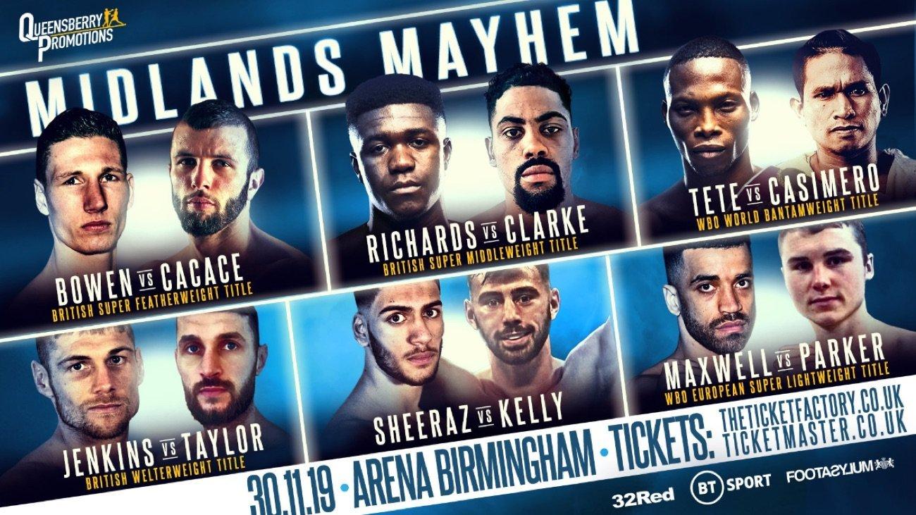 Tete vs Casimero - ESPN+, BT Sport @ Arena Birmingham | England | United Kingdom