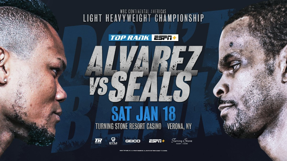 Alvarez vs Seals - ESPN+ @ Turning Stone Resort Casino | Verona | New York | United States