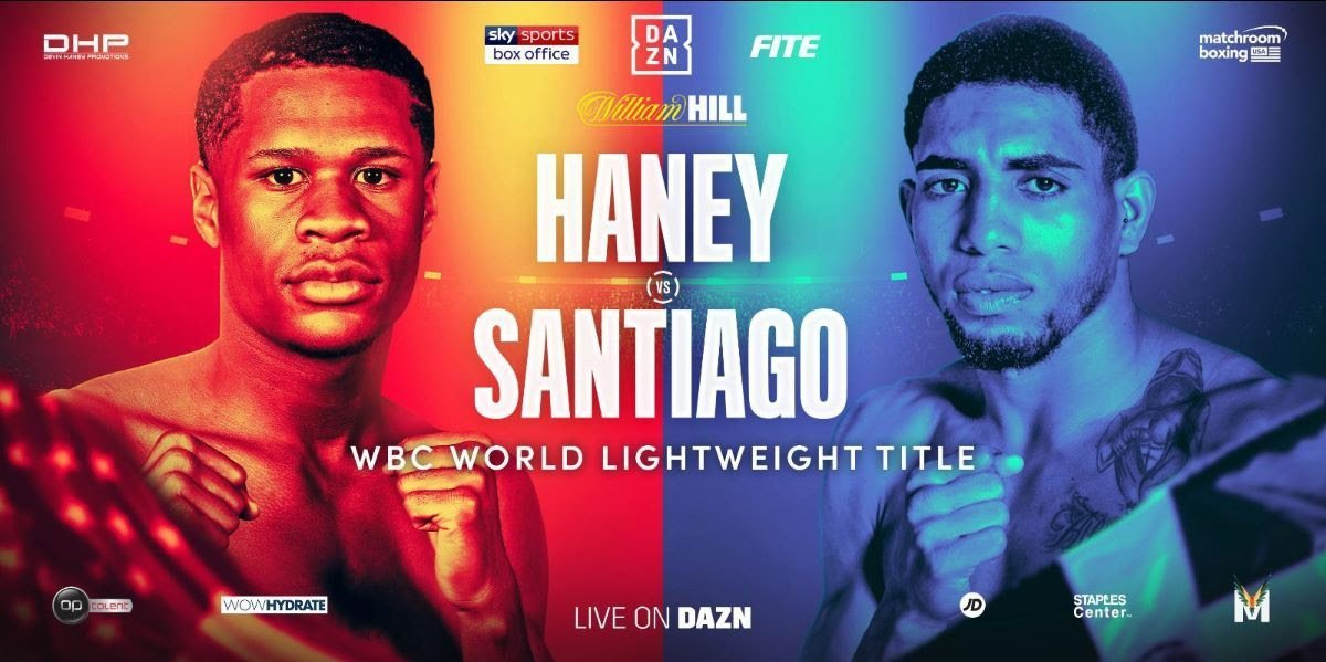 Haney vs Santiago - DAZN, Sky Sports @ STAPLES Center in Los Angeles | Los Angeles | California | United States