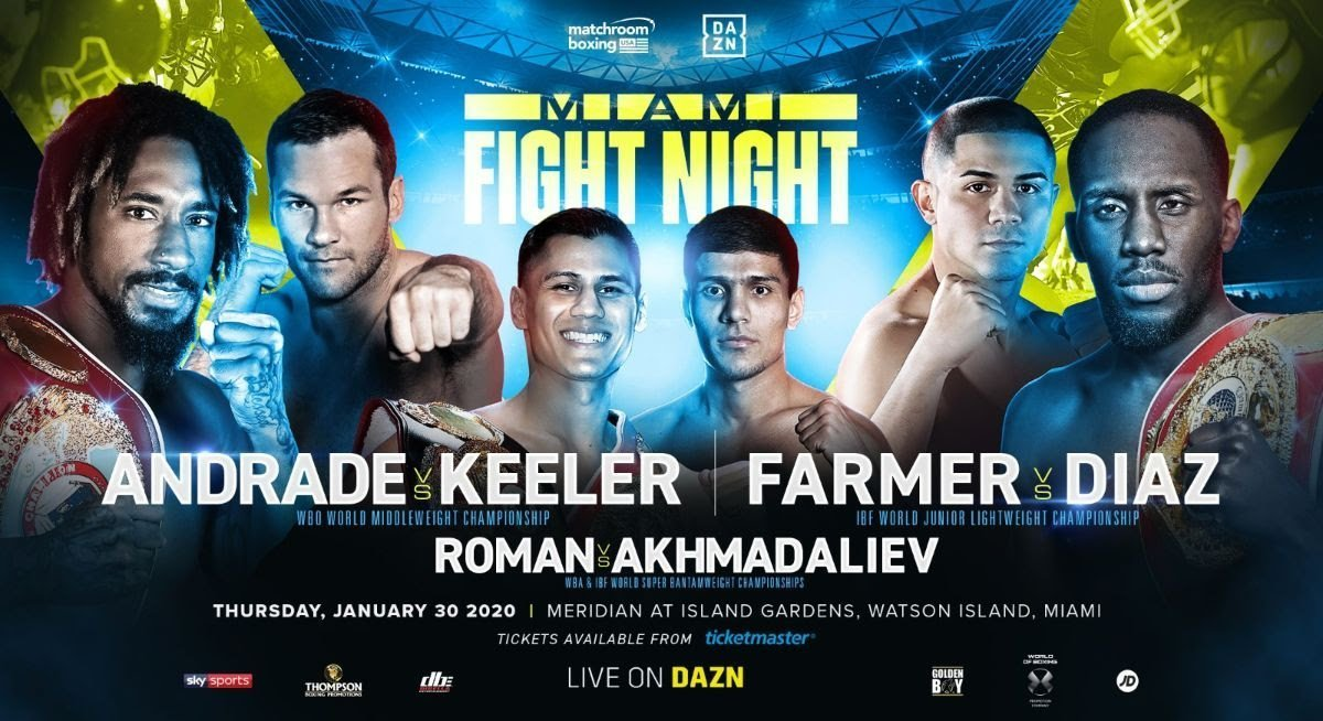Andrade vs Keller - DAZN, Sky Sports @ Meridian at Island Gardens in Miami | Miami | Florida | United States