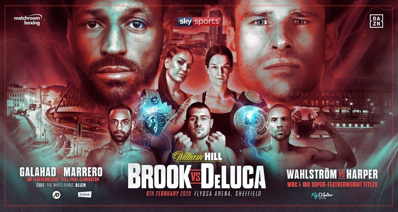 Brook vs DeLuca - Sky Sports, DAZN @ FlyDSA Arena in Sheffield | England | United Kingdom