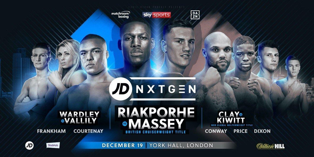 Riakporhe vs Massey: Sky Sports,  DAZN @ York Hall London | England | United Kingdom