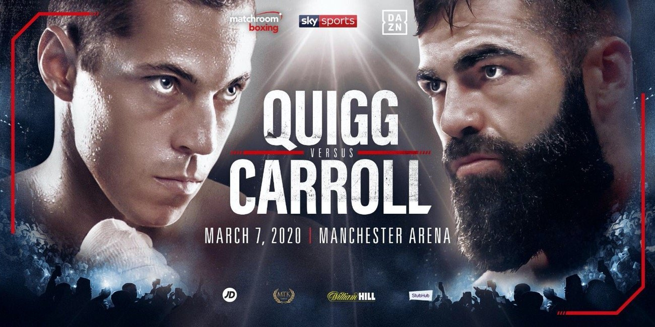 Quigg vs Carroll - DAZN, Sky Sports @ Manchester Arena | England | United Kingdom