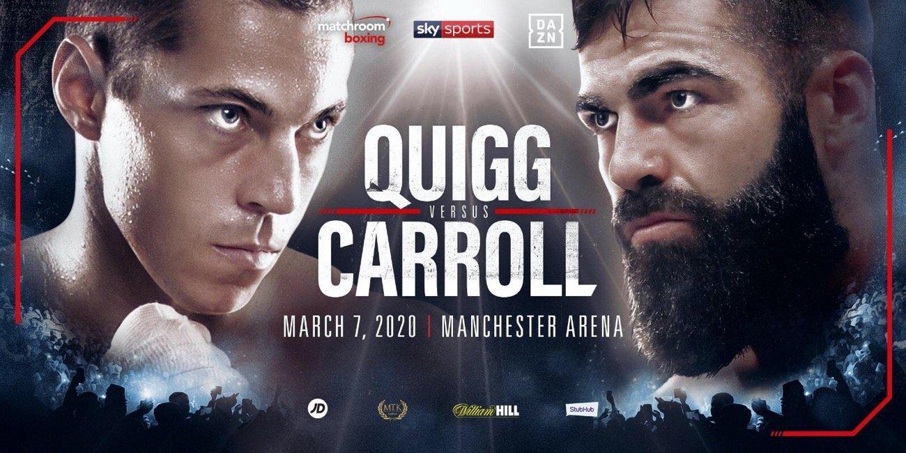 Quigg vs Carroll - DAZN, Sky Sports @ Manchester Arena | England | United Kingdom
