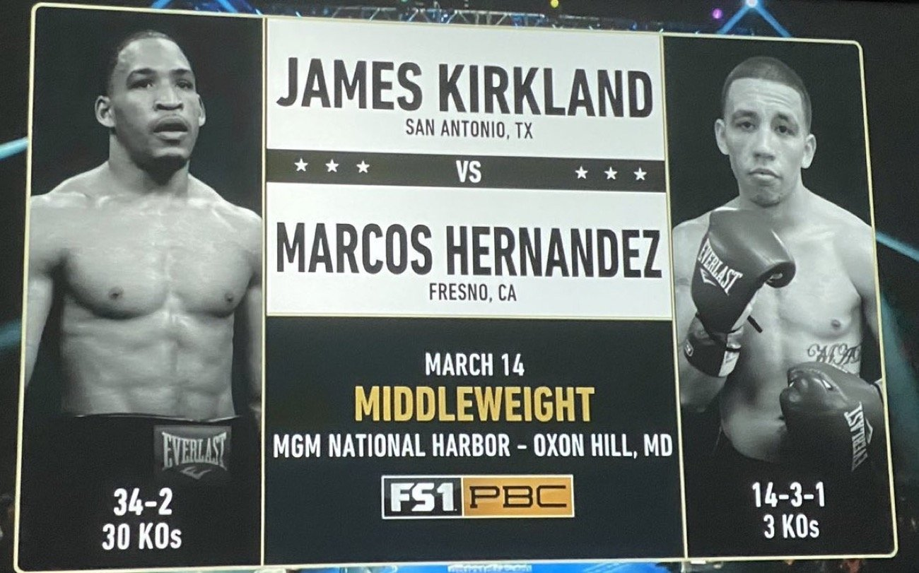 Kirkland vs Hernández - FOX @ MGM National Harbor in Maryland | Oxon Hill | Maryland | United States