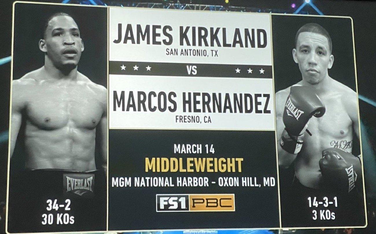 Kirkland vs Hernández - FOX @ MGM National Harbor in Maryland   Oxon Hill   Maryland   United States