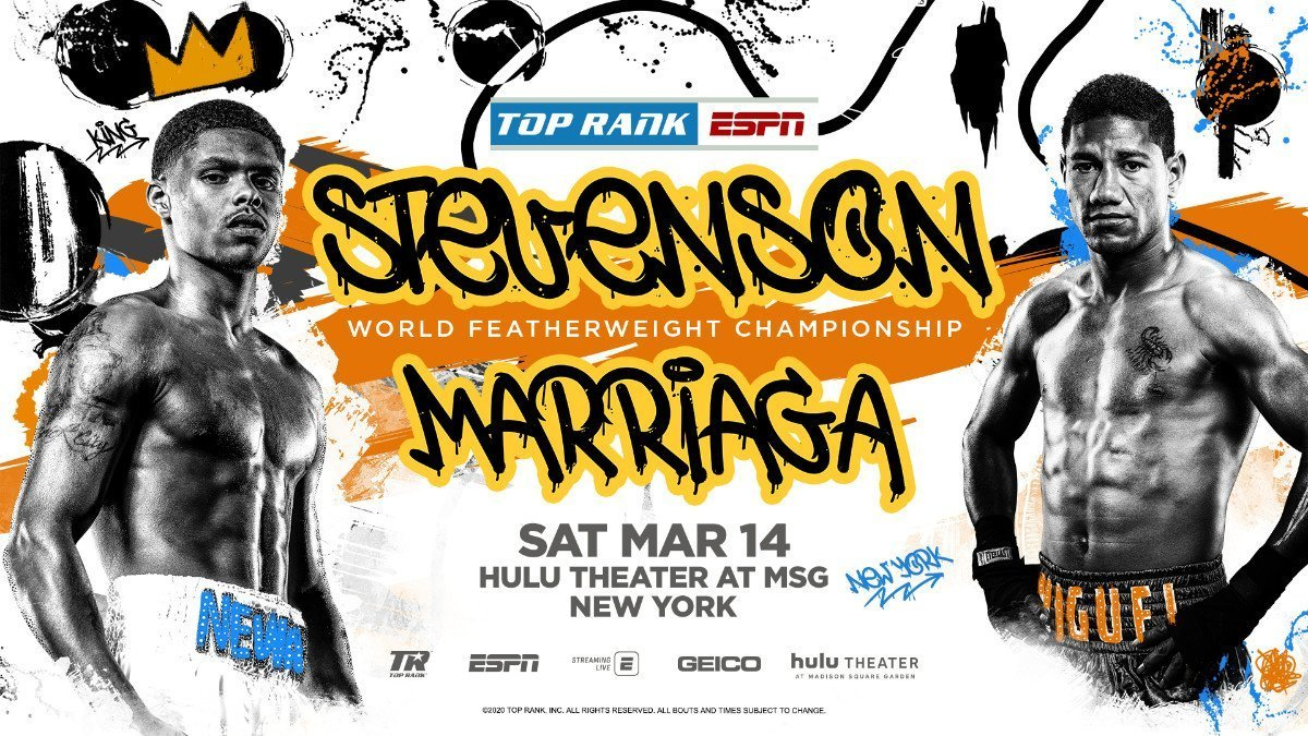 Stevenson vs Marriaga - ESPN @ Hulu Theater at Madison Square Garden. | New York | New York | United States