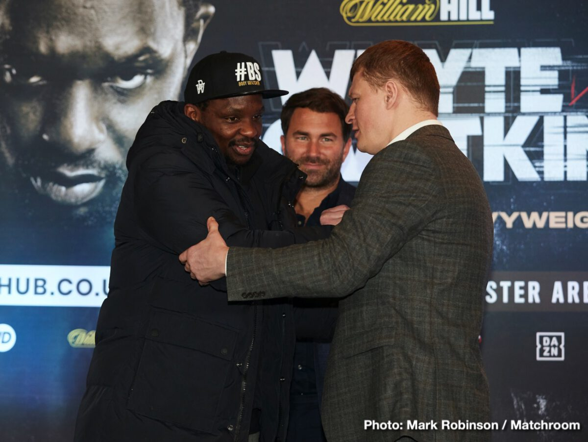 Whyte vs Povetkin -  Sky Sports 1 Dillian Whyte will make the first defence of his WBC Interim Heavyweight World Title against Alexander Povetkin at Manchester Arena on Saturday May 2, live on Sky Sports Box Office.