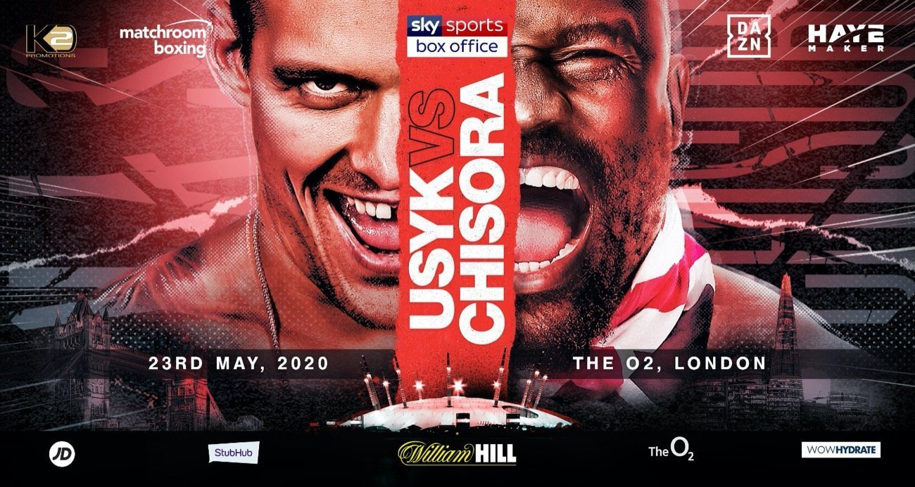 Uysk vs Chisora - DAZN, Sky Sports @ The O2 in London | England | United Kingdom