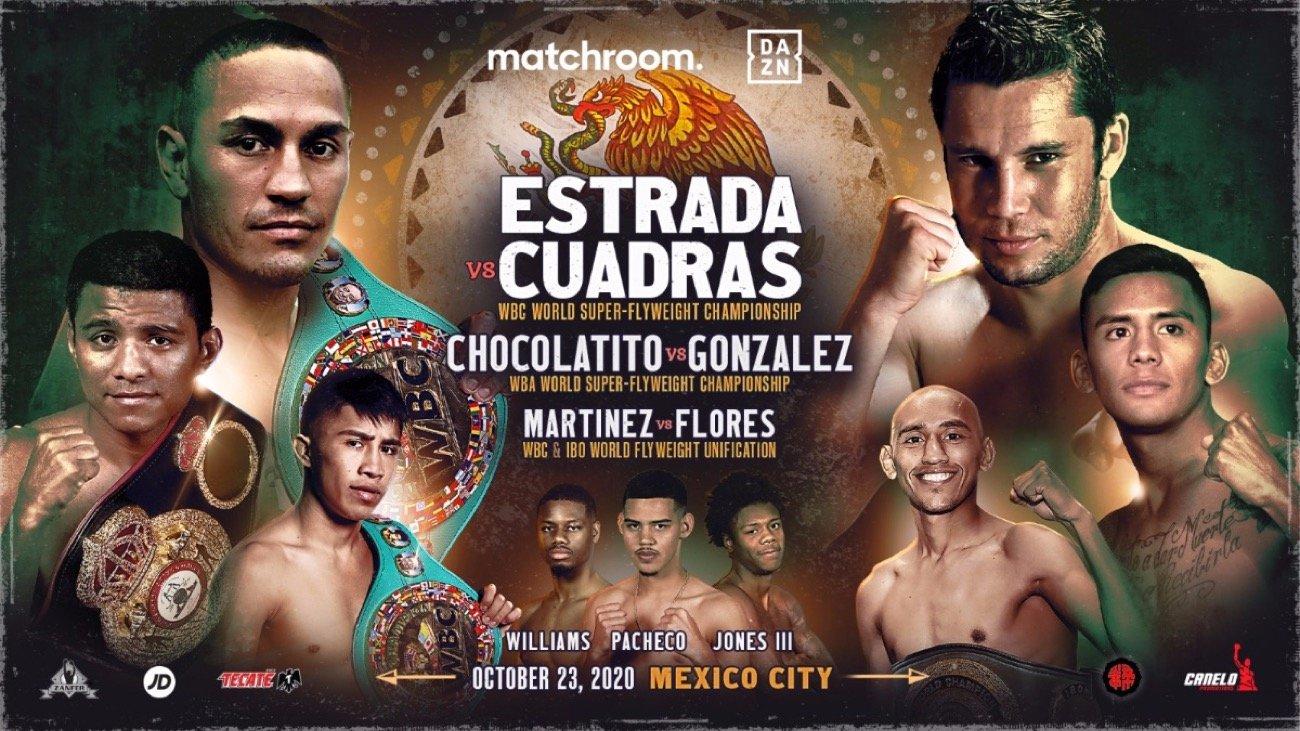 Estrada vs  Cuadras - DAZN - October 23 @ TV Azteca Studios in Mexico City | Ciudad de México | Ciudad de México | Mexico