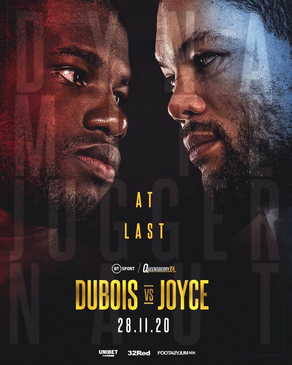 Dubois vs Joyce - BT Sport 1, ESPN+ - Nov 28 @ The 02 Arena, London | England | United Kingdom