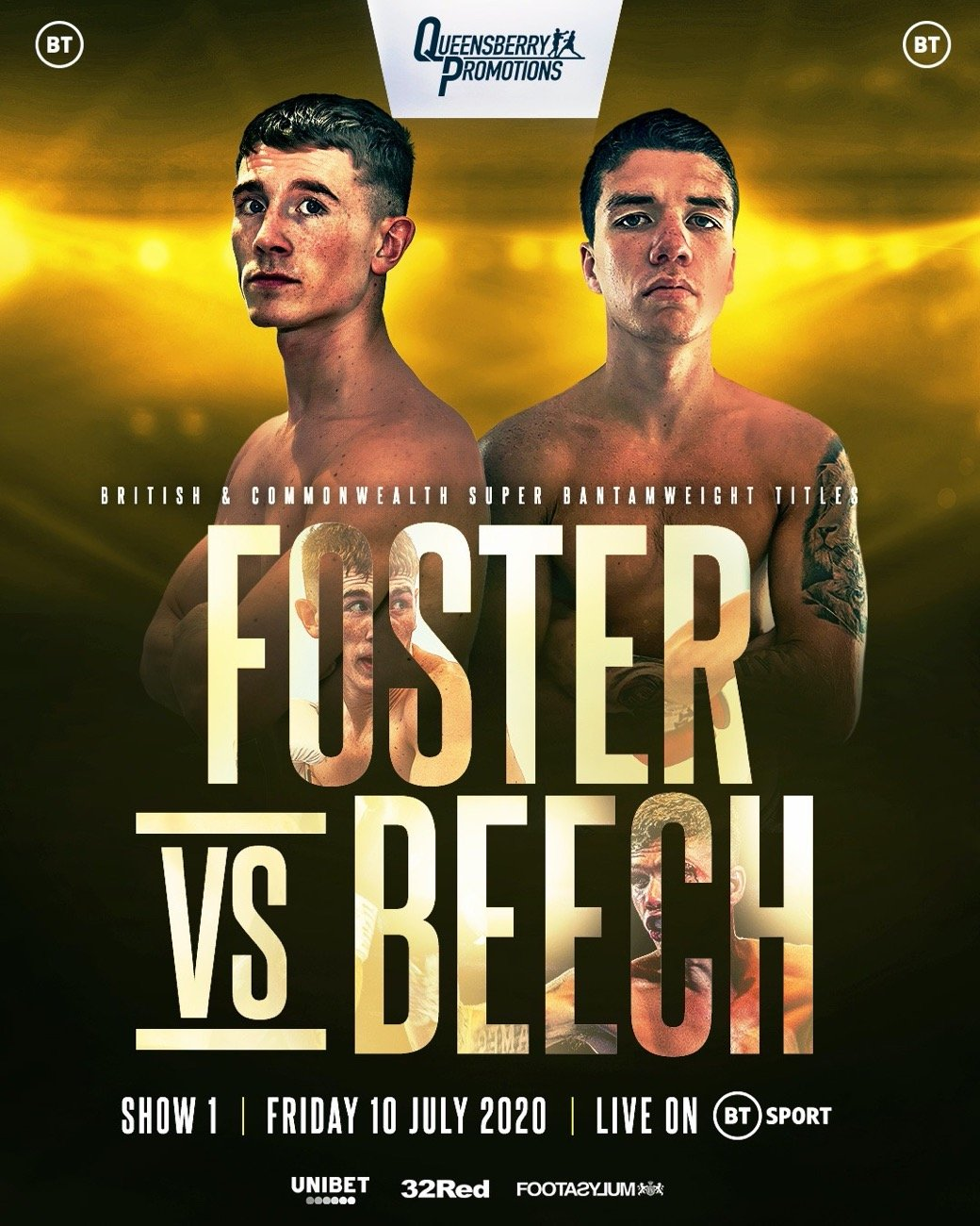 Foster vs Beech - BT Sport - July 10 @ BT Sport studios | England | United Kingdom