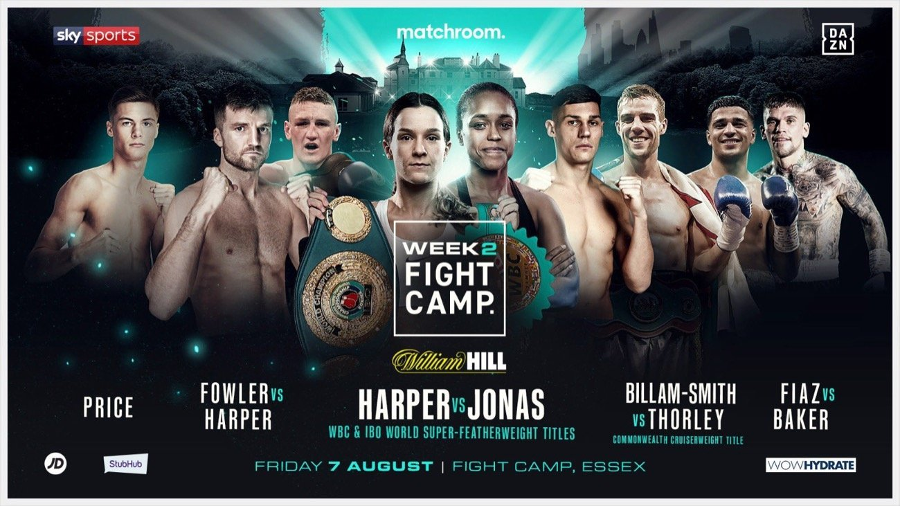 Harper vs Jonas - Sky Sports, DAZN - Aug. 7 @ Matchroom Fight Camp, Brentwood
