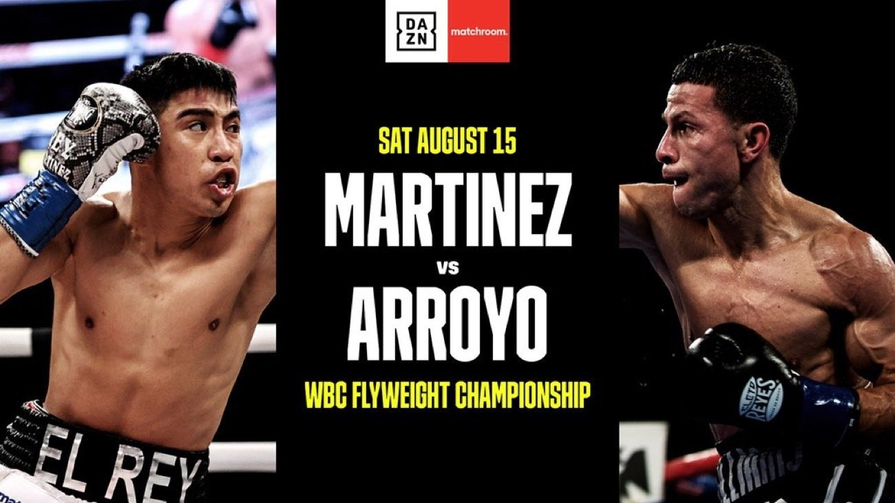 Julio Cesar Martinez will defend his WBC World Flyweight title against #1 ranked McWilliams Arroyo as Eddie Hearn's Matchroom Boxing USA return to action in Tulsa, Oklahoma on Saturday August 15, exclusively live on DAZN in the US.