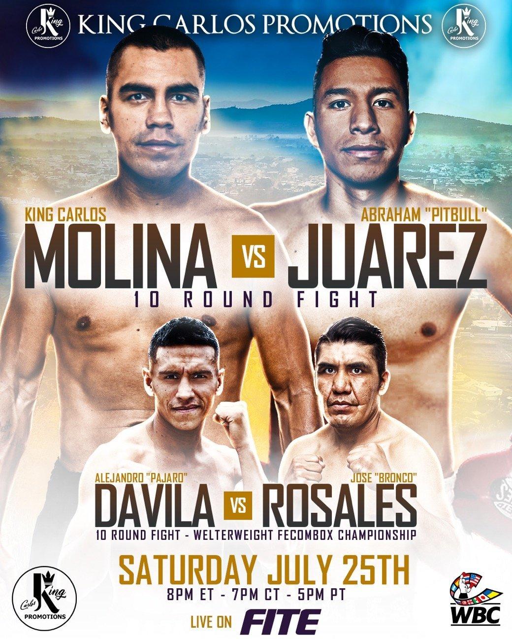 Molina vs Juarez - FITE - July 25 @ Michoacan, Mexico | Michoacán | Mexico