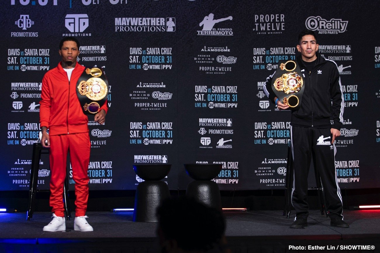 """SHOWTIME Sports will provide live streaming coverage of fight week events featuring three-time world champion Gervonta """"Tank Davis"""" and four-division world champion Leo """"El Terremoto"""" Santa Cruz ahead of their blockbuster SHOWTIME PPV (9 p.m. ET/6 p.m. PT) main event battle for the WBA Super Featherweight and WBA Lightweight Championships. The fight on Showtime Sports is a pay-per-view event. The fight will cost boxing fans $74.99 in the United States."""