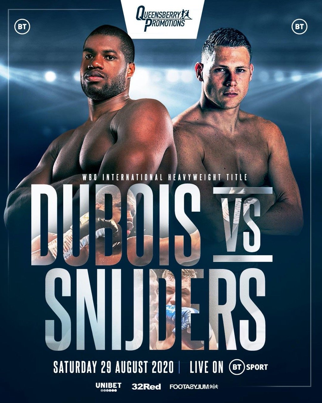 Dubois vs Snijders - ESPN+, BT Sport - Aug. 29 @ London | London | England | United Kingdom
